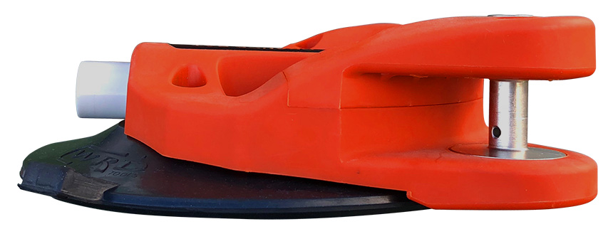 WRD Orange Bat - Auto Glass Removal Tool Side Angle View