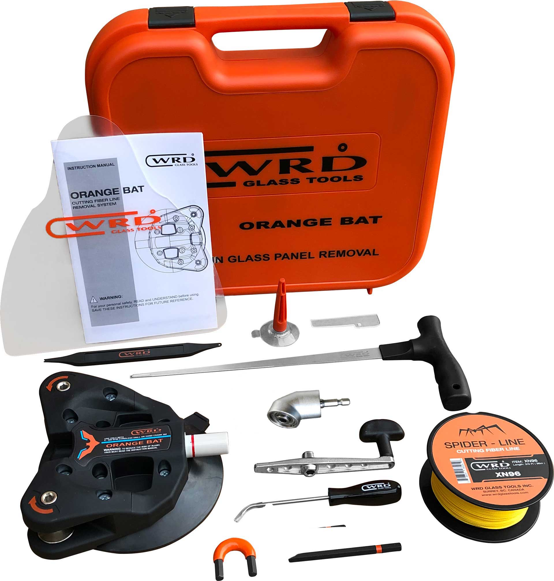 Kit -300K Glass Removal Tool Kit Just Released New Dual Spindle Design WRD Orange Bat
