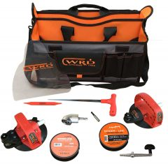 WRD PRO 6 2-in-1 Advanced Kit layed out on white background - includes the new mini Angle Driver